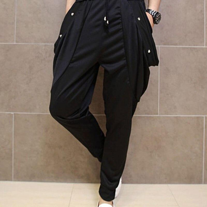 Fashion Men`s Studded Harem Pants Punk Style Skinny Hip ...