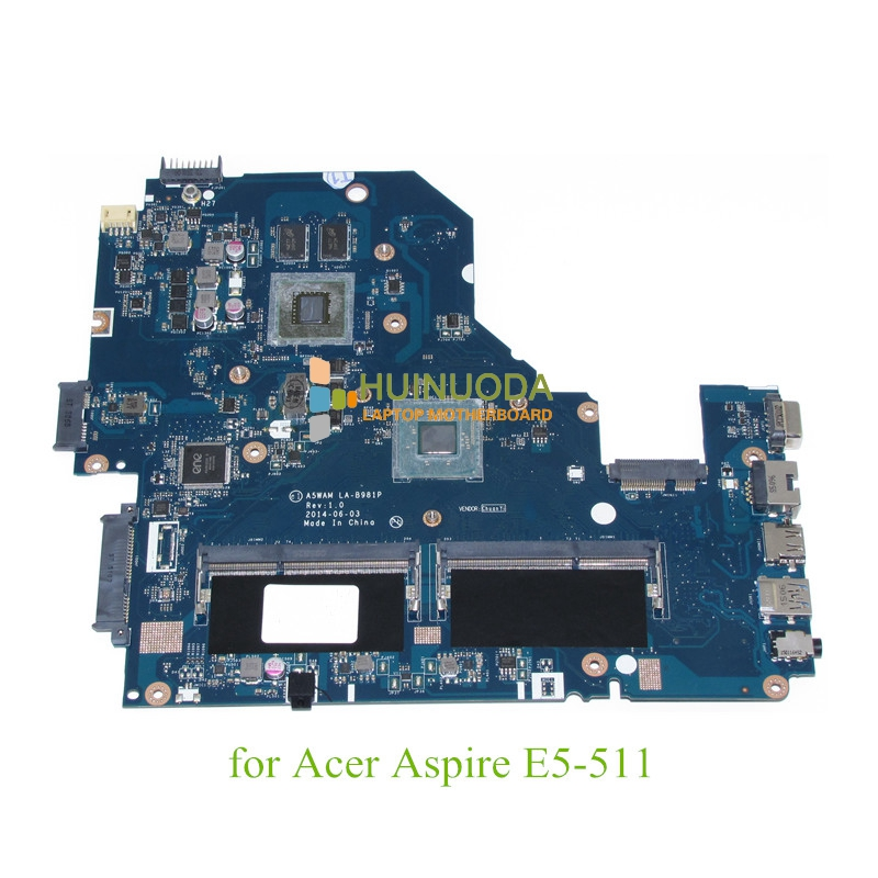 NOKOTION A5WAM LA-B981P REV 1.0 for acer aspire E5-511 laptop motherboard NVIDIA graphics NBMQX11005 NB.MQX11.005 original laptop motherboard for acer e1 571 q5wv1 la 7912p rev 2 0 nbm6b11001 nb m6b11 001 gt710m non integrated graphics card