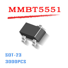 Power Supply MMBT5551 SOT 23 3000PCS 0 6A 600mA 160V NPN data inside SOT23 High quality
