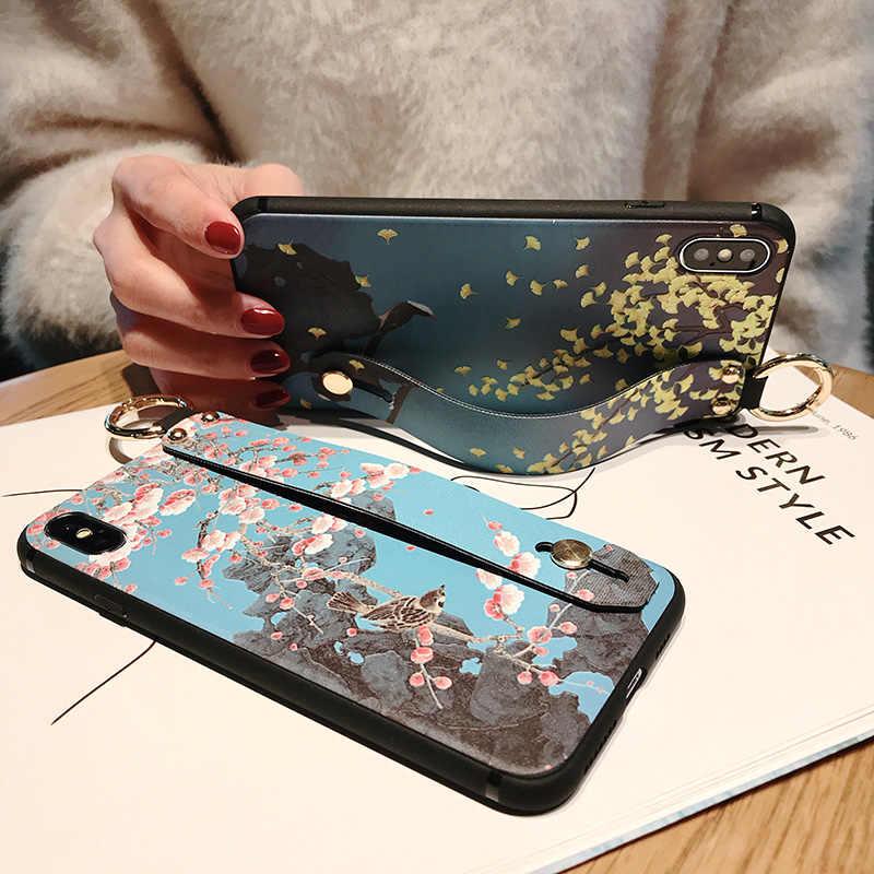 Ремешок мягкий ТПУ чехол для телефона huawei наслаждаться 8E палец кольцо чехол с отпечатков пальцев Вернуться протектор для наслаждаться 8E охватывает