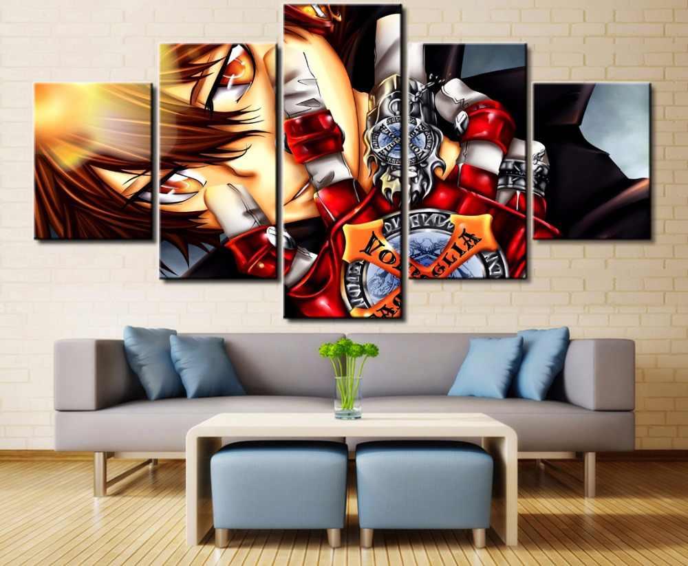 5 Cái Hiện Đại HD In Vải Sơn Katekyo Hitman Reborn Paintings on Canvas Wall Nghệ Thuật đối với Trang Trí Tường Decor nghệ thuật
