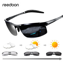 цены Reedoon Photochromic Sunglasses Polarized Lens UV400 Aluminium Magnesium Frame Driving Goggles For Men High Quality