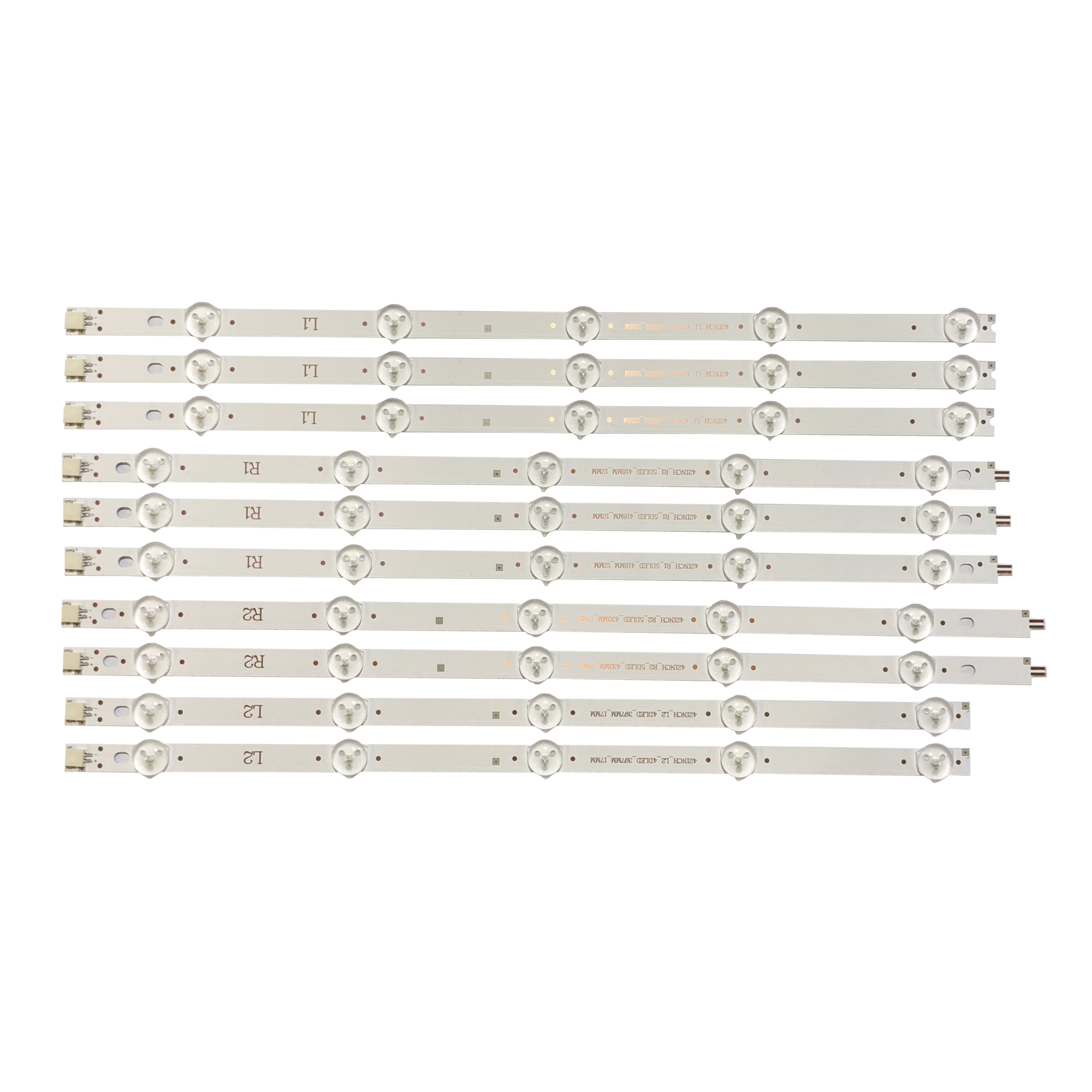 Computer & Office Well-Educated New Kit 10 Pcs R1 L1 R2 L2 Led Strip Perfect Replacement For Lc420due 42ln5400 6916l-1385a 6916l-1386a 6916l-1387a 6916l-1388a
