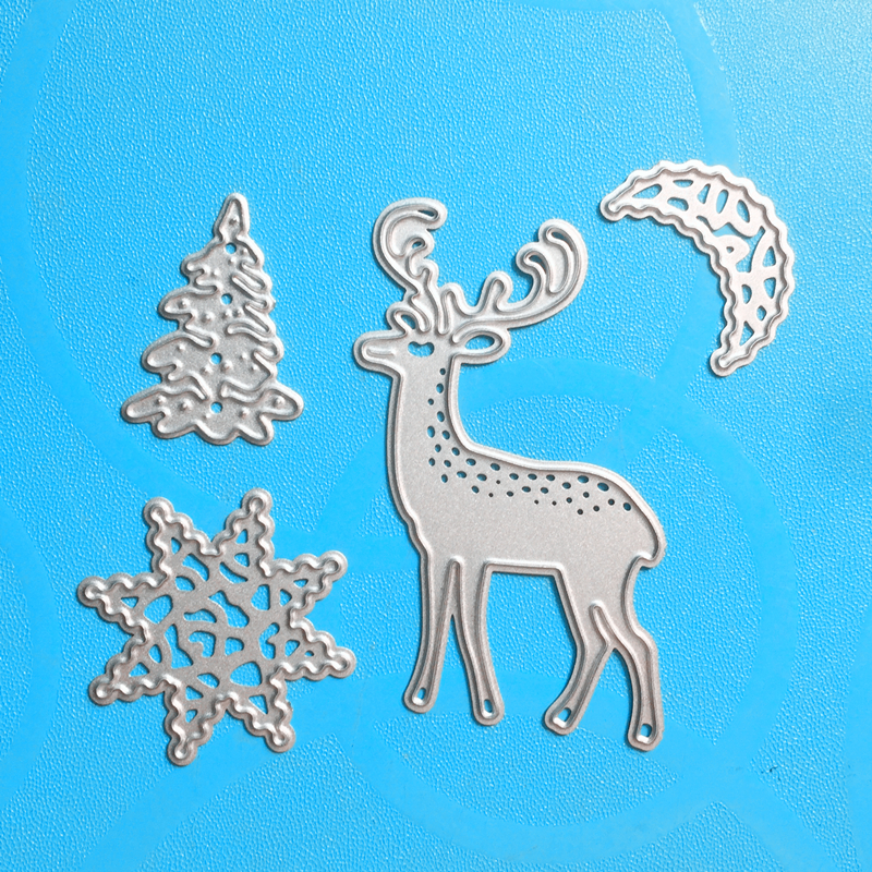 YLCD964 Christmas Things Metal Cutting Dies For Scrapbooking Stencils DIY Album Cards Decoration Embossing Folder Craft Die Cuts in Cutting Dies from Home Garden