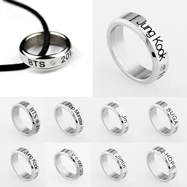 1PC Jewelry Simple Fashion Men Titanium Steel Gift Birthday Titanium Steel Ring