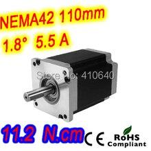 3шт за лот Nema 42 шаговый электродвигатель 42HS39-5504S L99 мм 1,8 град текущий 5,5 A крутящий момент 11.2 n. См и 4 проволока