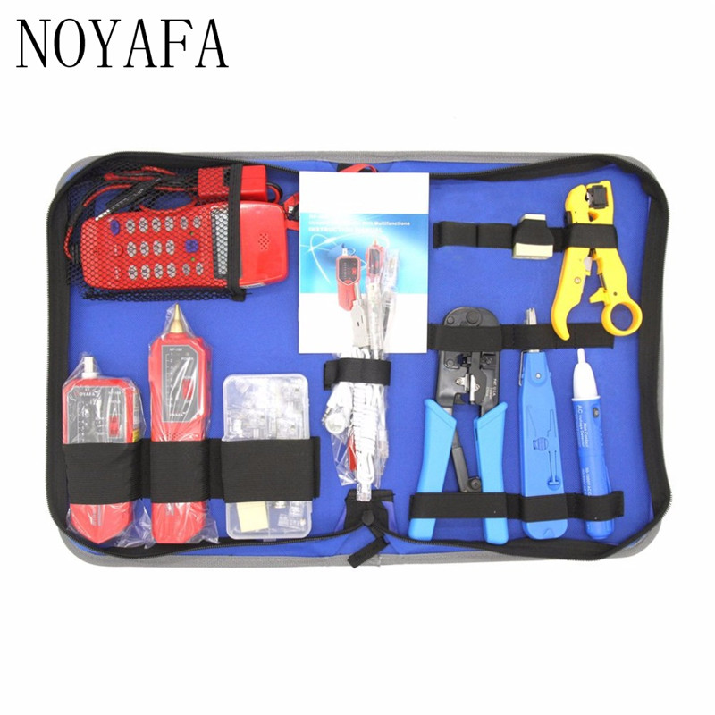NF-1502 Network Repair Tool Kit With Wire Stripper Wire Tracker Phone Checker NF-866 Crimping Tool Maintenance Tool Set 14pcs the key with combination ratchet wrench auto repair set of hand tool kit spanners a set of keys herramientas de mano