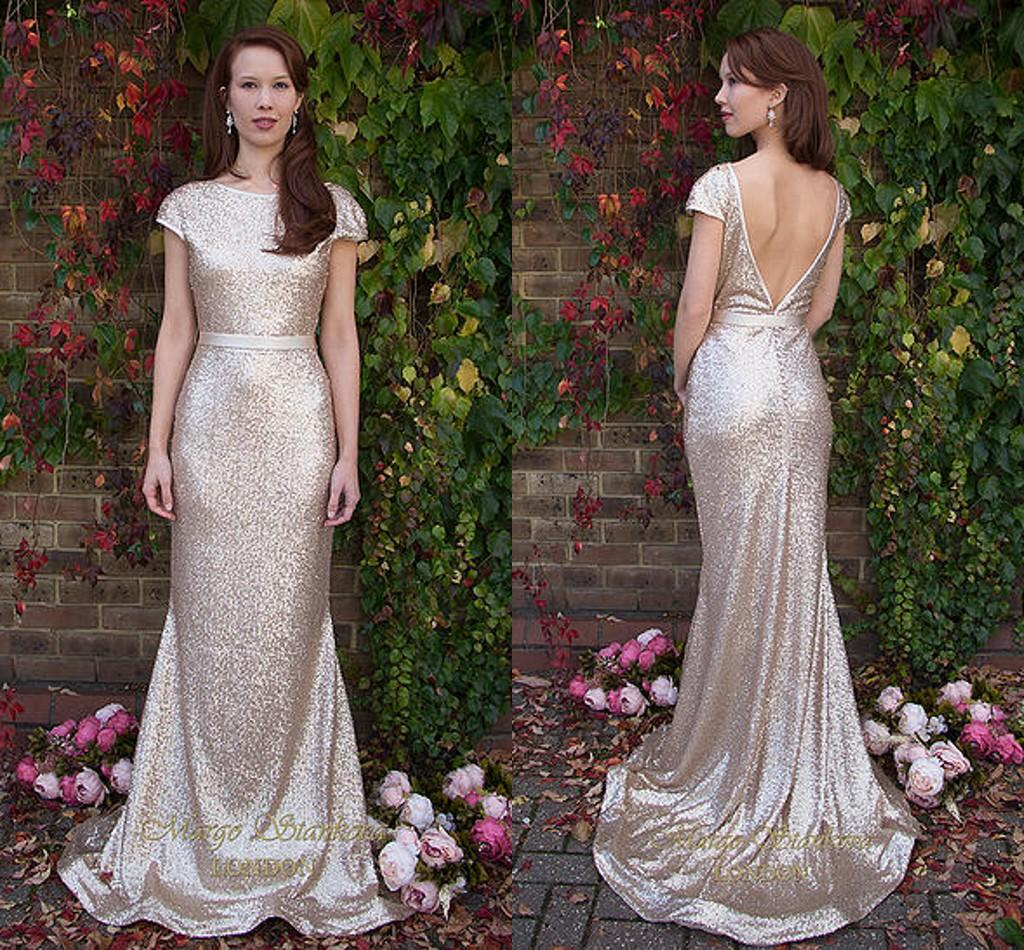 Gold Gowns Wedding: Bling Bling Gold Sequin Long Bridesmaid Dresses 2016 Plus
