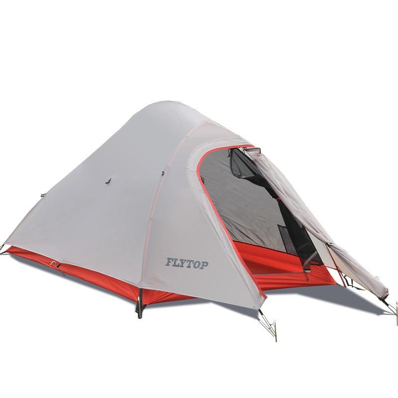 Outdoor Ultralight Hiking Tent 20D Nylon Portable Aviation Aluminum Rod Camping Fishing Tent with Full Mesh&Mat Waterproof