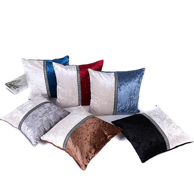 1Pcs 45*45cm Color Matched Soft Velvet Throw Pillow Cushion Cover Home Decoration Sofa Bed Decor Decorative Pillowcase 40447