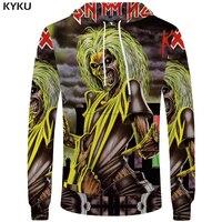 KYKU Iron Maiden Hoodies Skull Sweatshirt Punk Mens Clothing Gothic Funny Hoodie Sweatshirts Male Men Hip
