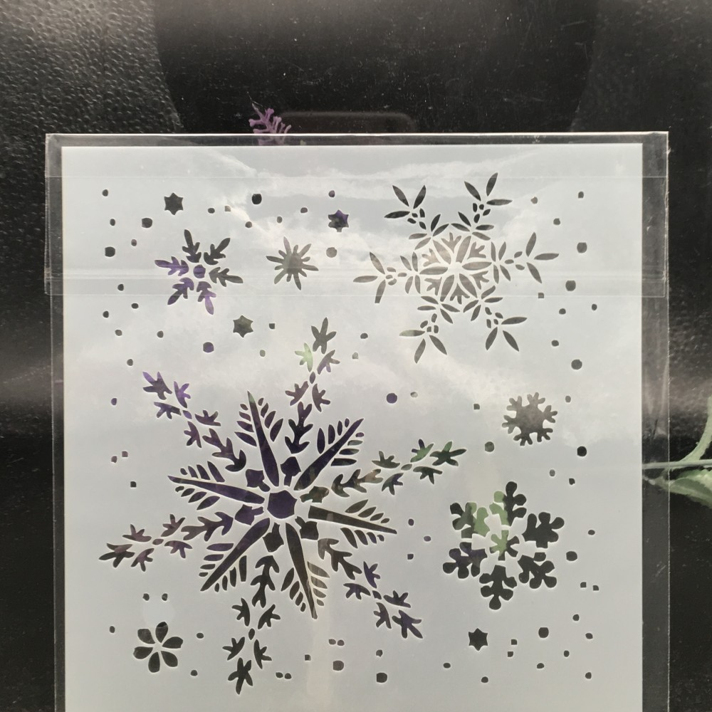 15cm Snowflake DIY Layering Stencils Wall Painting Scrapbook Coloring Embossing Album Decorative Card Template