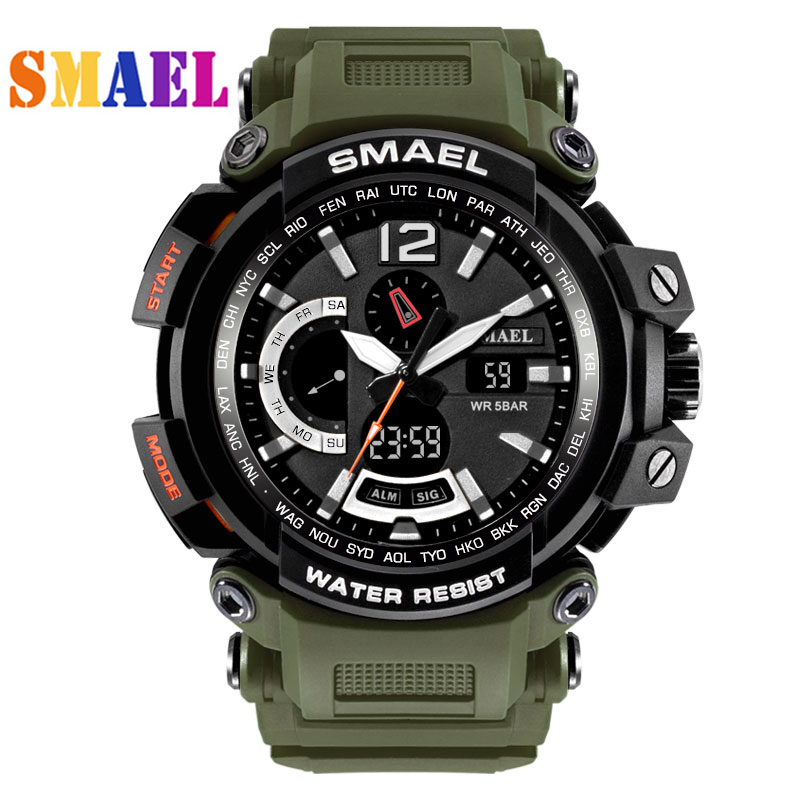 New Top Brand SMAEL Watch Men G Style Wateproof S Shock Sports Mens Watches Luxury LED Digital watch Military Army Wristwatches