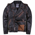 2015 New  Dermis  Cowhide  Embroidery  Men's leather jacket  Short paragraph  Slim Fit   DXY21