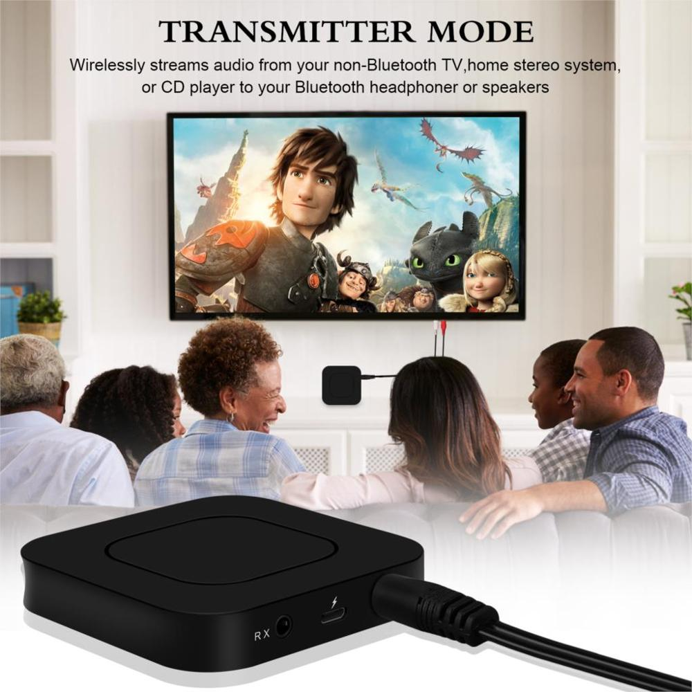 Image 2 - 2 in 1 Wireless Bluetooth 4.2 Audio Transmitter Receiver 3.5mm Aux Adapter For TV Home Stereo System PC Earphone Speaker-in USB Bluetooth Adapters/Dongles from Computer & Office
