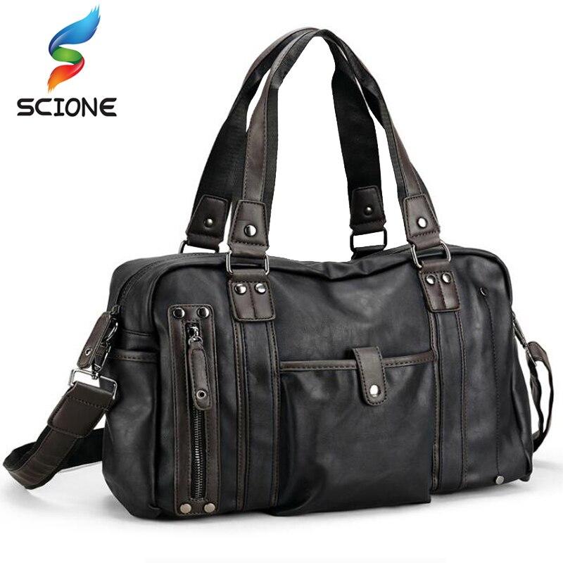 Top PU cuir Sports de plein air formation sacs de sport hommes voyage Messenger sacs à main Fitness épaule sac à bandoulière pour homme