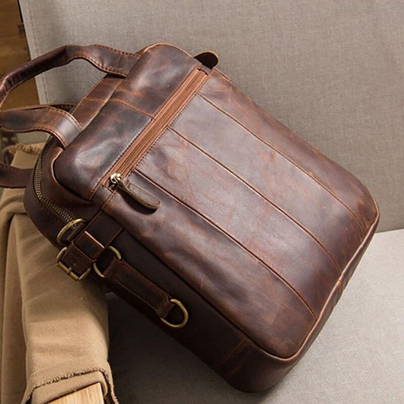 AETOO Men's leather bag, head leather one-shoulder slanted bag, vertical casual hand-held bag