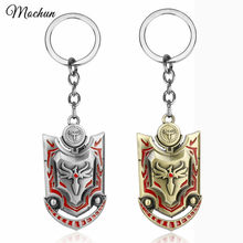 MQCHUN Game LOL Valkyrie Leona Sword Blade Shield Keychain Fashion Weapon Toy Pendant Keyring Key Rings Holder For Men Boys Gits(China)
