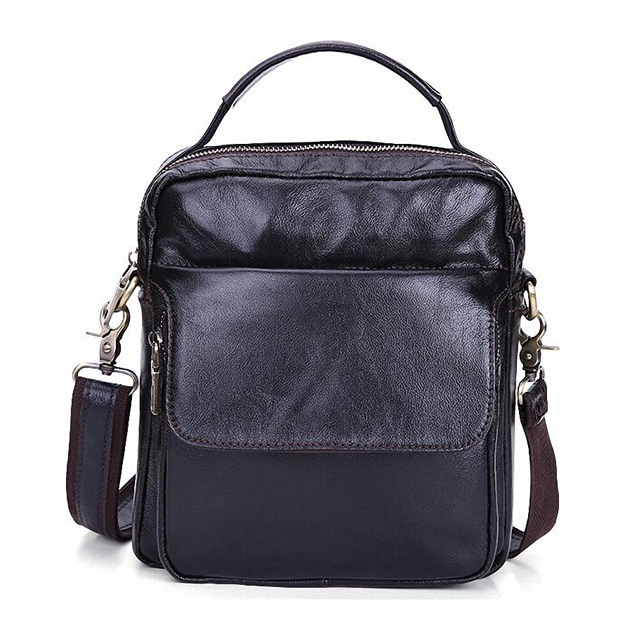 ФОТО Men messenger bags luxury genuine leather men bag designer high quality shoulder bag casual zipper office bags for men LI-1779