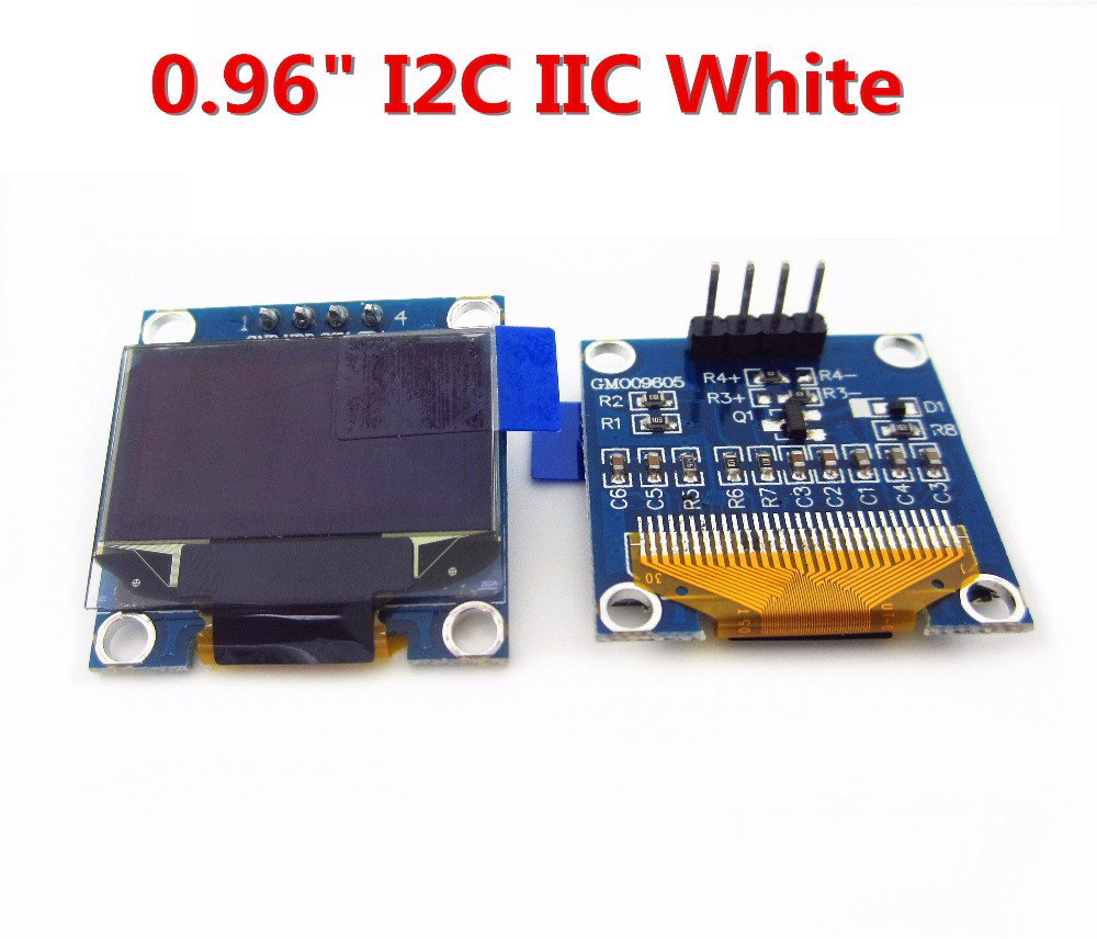 1pcs 0.96white 0.96 inch OLED module New 128X64 OLED LCD LED Display Module 4pin-0.96 I2C IIC SPI Serial new original 0 96 inch 128 x 64 white oled display module spi interface for arduino