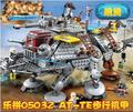 Envío Gratis 1022 unids 2016 Nueva LEPIN 05032 Star Wars AT-TE del Capitán Rex Minigifures Bloques de Construcción de Ladrillos de Juguete 75157 regalo del muchacho