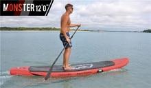 "Freeshipping Aqua Marina Monstruo 12'0 ""Levántese el Tablero de Paleta Inflable tabla de Surf"