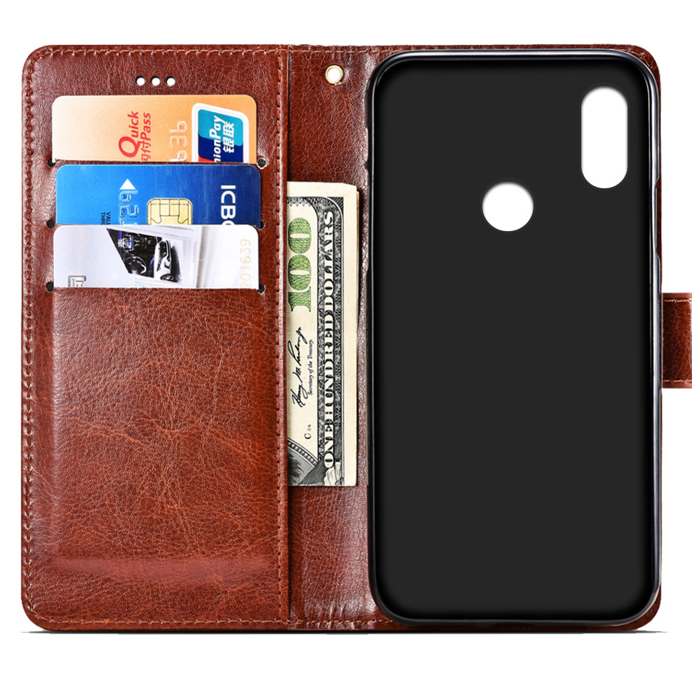 SRHE For Doogee X70 Case Cover Flip Leather Card Wallet Silicone Cover For Doogee X70 Case With Magnet Holder