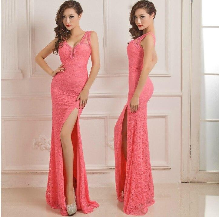 ⑥2016 Cuadro Verdadero H0685 Partido del cordón vestidos Largos ...