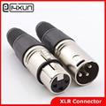 10pcs Neutrik 3-Pole Female/Male Cannon XLR Connector Plug for Microphone Cannon Connector with 3 Poles