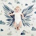 Cobertores Do Bebê recém-nascido Coroa/Asa de Musselina Gaze Cobertores swaddling bebês Envoltório Multifuncional couverture dekentje enfant bebê