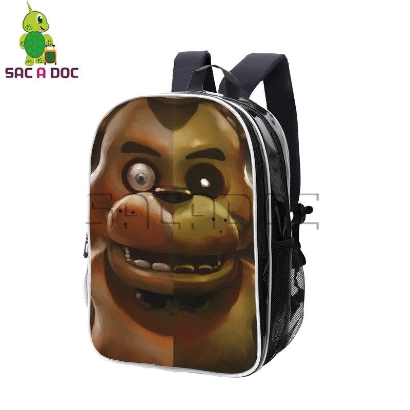 Anime cinq nuits à Freddy's Freddy Split sac à dos en cuir Pu sacs à dos étudiants sac d'école pour les adolescents garçons filles sac de voyage
