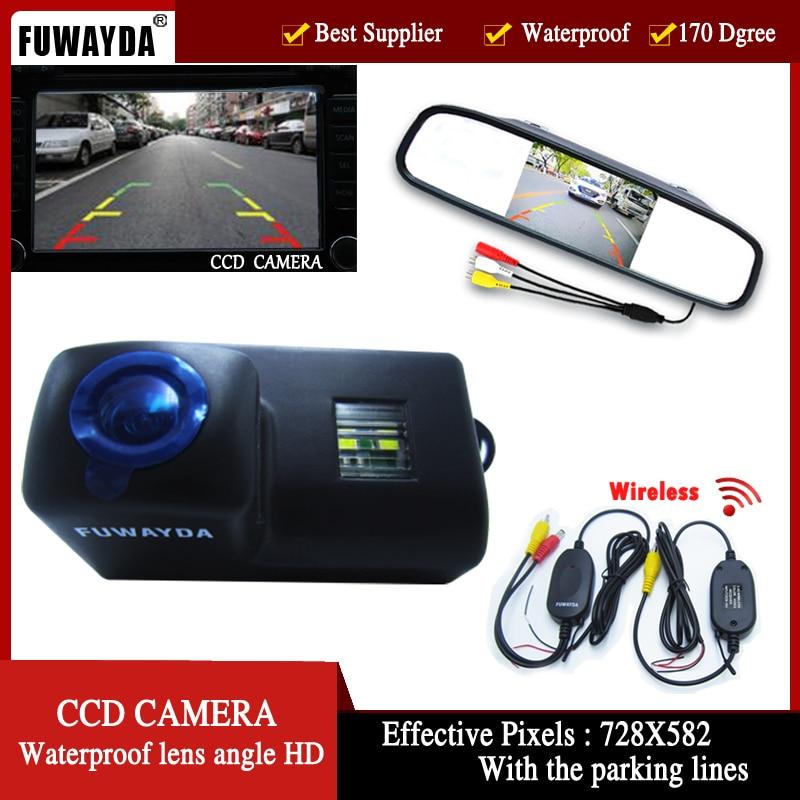 FUWAYDA caméra de recul sans fil pour Peugeot 206 207 306 307 308 406 407 5008 4.3 partenaire Tepee pouces moniteur de rétroviseur