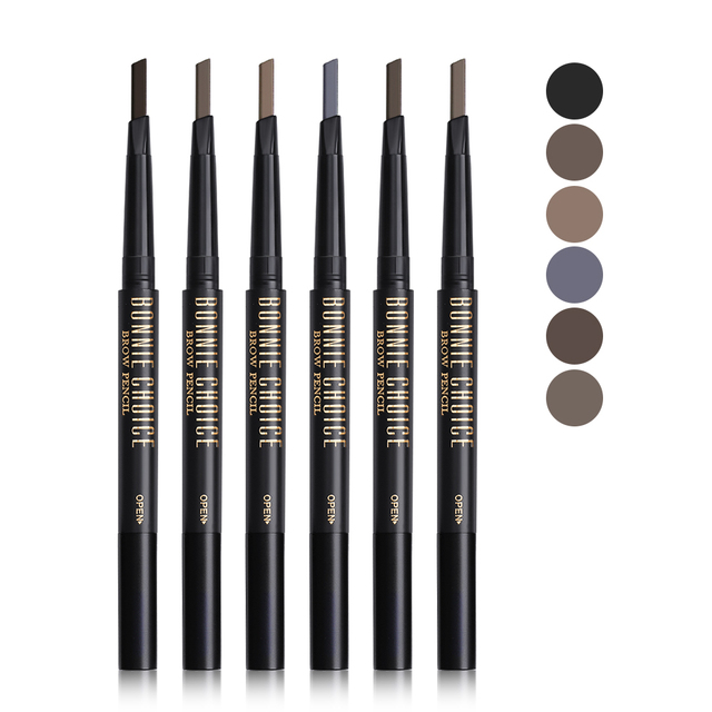 BONNIE CHOICE Eyebrow Pencil Long Lasting Waterproof Automatic Eyebrow Pen Eye Brow Tint +3Pcs Stencils Grooming Kit Makeup Tool 2