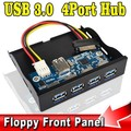"""Painel Frontal USB 3.0 4 Portas HUB Combo Adapter Bracket USB3.0 Bay Interno com 15 pinos Cabo De Alimentação SATA 3.5 """"Baía de disquete Disco"""