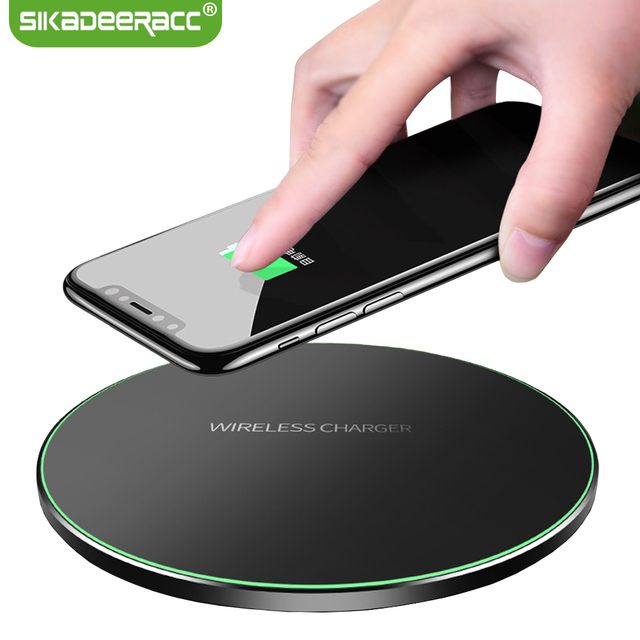 JK63 Qi Wireless Charger 9V Fast Charging Pad For iPhone X 8 Plus Samsung Galaxy Note 8 S7 Edge S6 S8 Plus Nexus 6 LG G4 G10