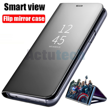 Smart Mirror Flip Phone Case For Samsung Galaxy S10 S9 S8 S7 S6 Edge Plus Clear View Cover For Samsung Galaxy S10E S10 Plus samsung clear view для samsung galaxy s7 edge black