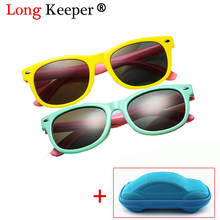 2dd159290a Polarized Sunglasses Kids Baby Boys Girls Flexible Eyewear Square Frame Baby  UV400 Sun Glasses Gafas De Sol Infantil With Case