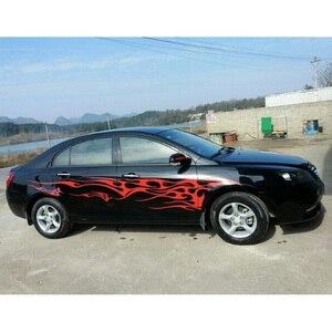 Image 3 - 1 쌍 화재 불꽃 자동차 스티커 및 데칼 전체 바디 자동차 비닐 2.2m 빨 수있는 자동 스타일링 자동차 액세서리 3 색
