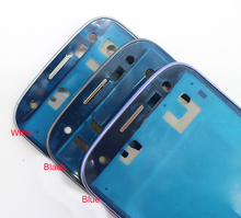 New Original For Samsung Galaxy S3 III i9300 Black White Blue Metal Frame Front Bezel Housing Cover Replacement Free Shipping