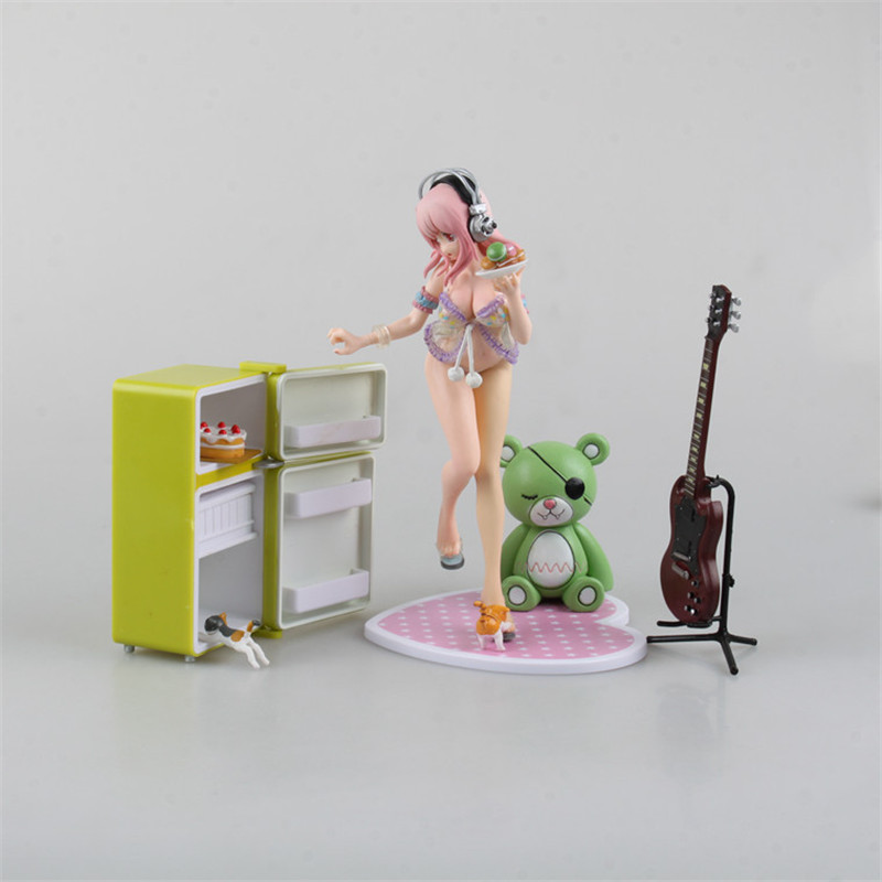 цена на Anime 20 CM Super Sonic Super Deluxe Edition Sonice Refrigerator Set PVC Action Figure Collectibles Model Toys gift for friend