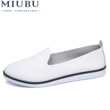 MIUBU Spring Women Genuine Leather Ballet Flats Casual Shoes Round Toe Slip On Flats Loafers Ballerina Flats Women Shallow