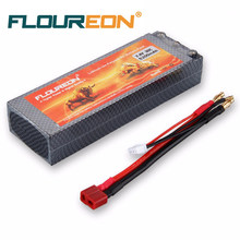 FLOUREON 2S 7.4V 5200mAh 30C(T plug)LiPo Battery Pack for RC Evader BX Car, RC Truck, RC Truggy RC Airplane UAV Drone FPV(China)