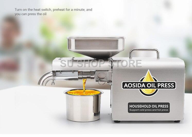 Acier inoxydable Multifonctionnel presse à huile machine pour l'usine prix presse à huile machine outil expulseur d'huile pour vente