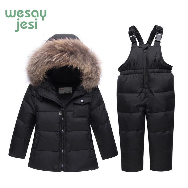 75f8f27e6 Kids Clothes Girls Down Coat Children Clothing Warm Set 2018 Baby ...