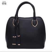 XIYUAN BRAND luxury real cow Genuine Leather shell Shoulder & Handbags Chinese Style lady handbag cross-body messenger bag black