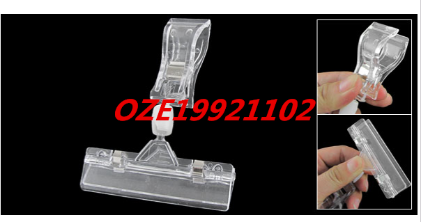1PCS Retail Stores Clear Advertising Pop Display Rotary Clip Holder