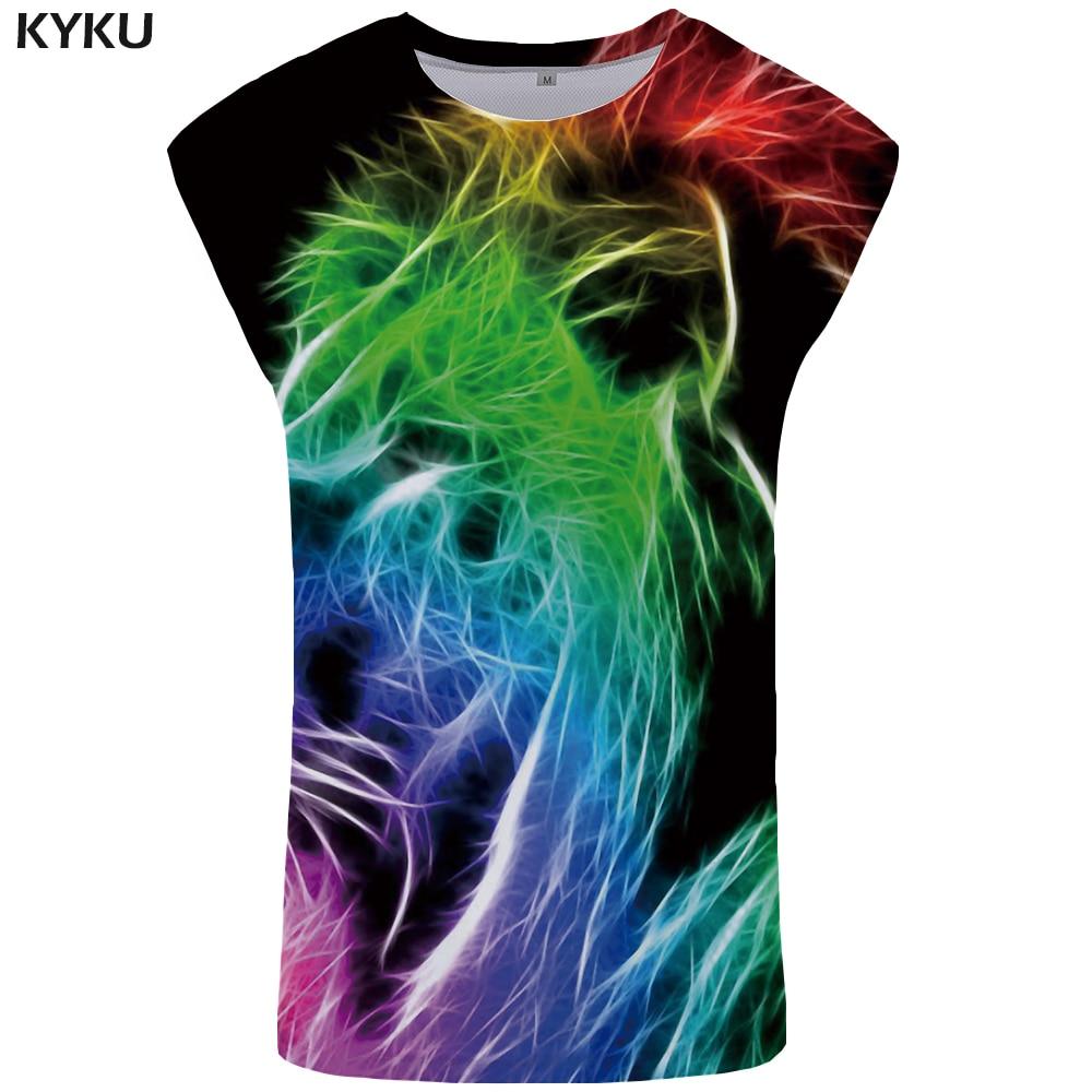 KYKU Brand Color   Tank     Top   Men Funny Singlet Street Mens Bodybuilding Punk Ftness Clothing Stringer Undershirt Sleeveless Shirt