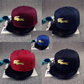 Metal Crocodile Snapback Bone Mesh Hip Hop Caps Baseball Hats Casquette Gorras Women/Men 5 Colors Hat HT252