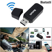 Alta Qualità Portatile 3.5mm Auto Senza Fili Bluetooth USB Aux Audio Stereo Altoparlante di Musica Ricevitore Adattatore Dongle + Mic Per PC phone(China)