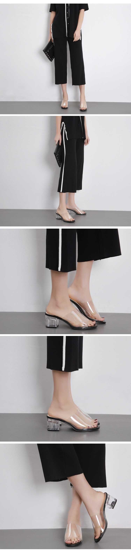 HTB13W4ffY1YBuNjSszhq6AUsFXaE Eilyken 2019 Summer Gladiator Sandals Women Leisure Crystal Square heel slippers Fashion Women's Sandals Slides shoes